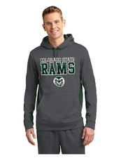 CSU Rams Grey/Green Fleece Colorblock Hooded Pullover